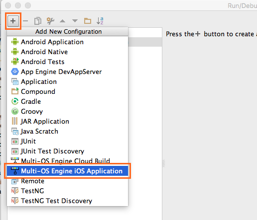 Creating A Hello World App For Android And Ios Devices Multi Os Engine Documentation
